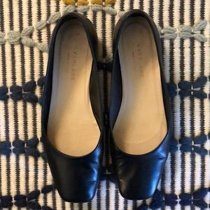 Everlane square toe flats